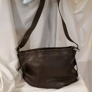 Coach vintage brown leather hobo bag excellent con